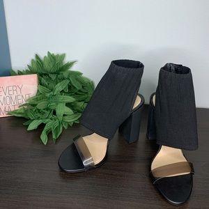 Zara strappy ankle block heel